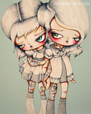 Ink on her tattoo sisters pinkytoast