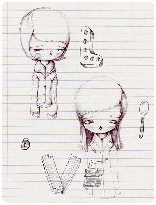 Love spoon pinkytoast sketch