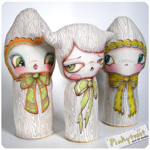 Woodgrain owl doll pinkytoast 3