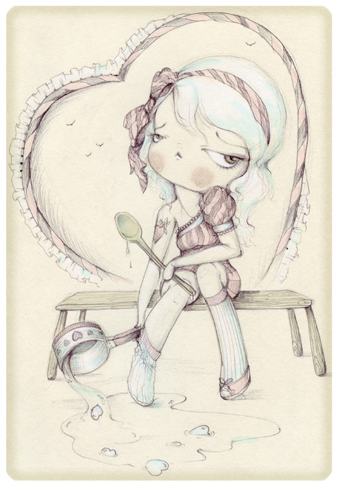 Lovecook sketchbook pinkytoast
