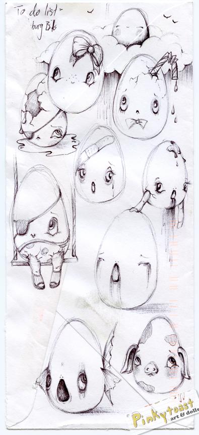 Baby egg sketch pinkytoast