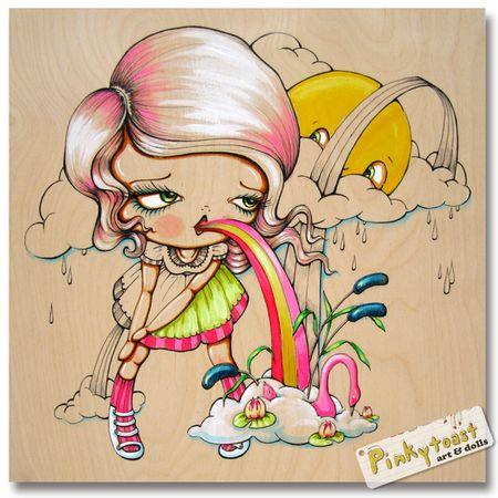 She swallowed a fairy tale pinkytoast