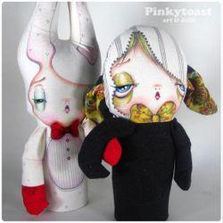 Boxing rabbit doll pinkytoast 22