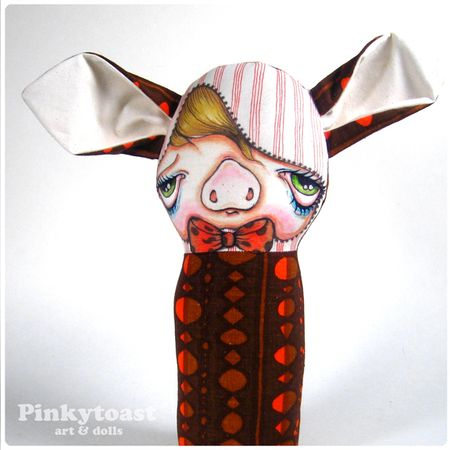 Mod pig pinkytoast doll 6