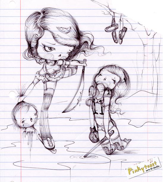 Ice queen sketch pinkytoast