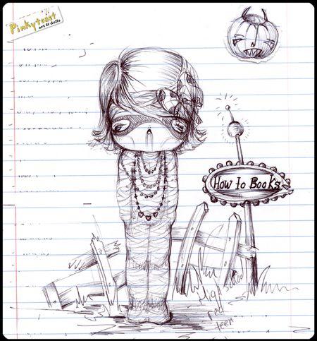Halloween mummy sketch pinkytoast