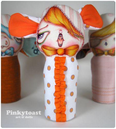 Orange clown vampire mouse pinkytoast mummy doll 2