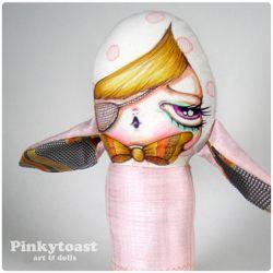 Fly away fancy pink bunny pinkytoast mummy doll 5