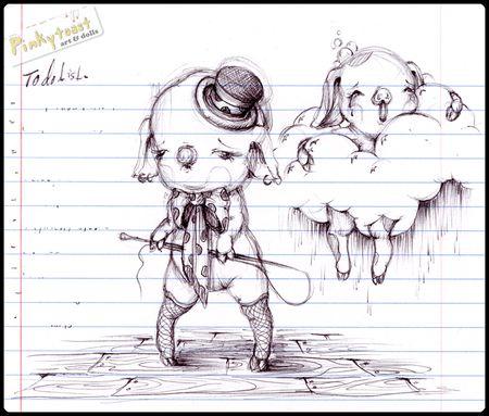 Pig circus sketch pinkytoast