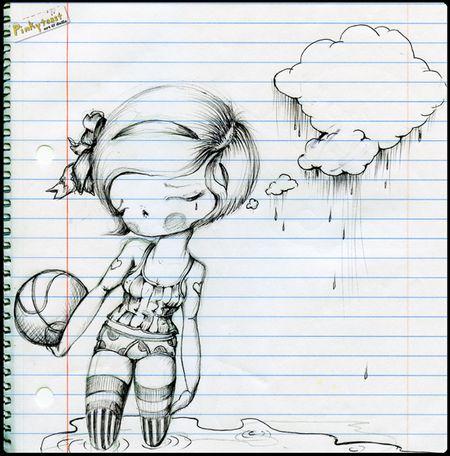 Basket ball girl sketch pinkytoast