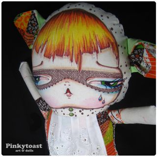 Cat in a brown Mask long leg pinkytoast Doll 3