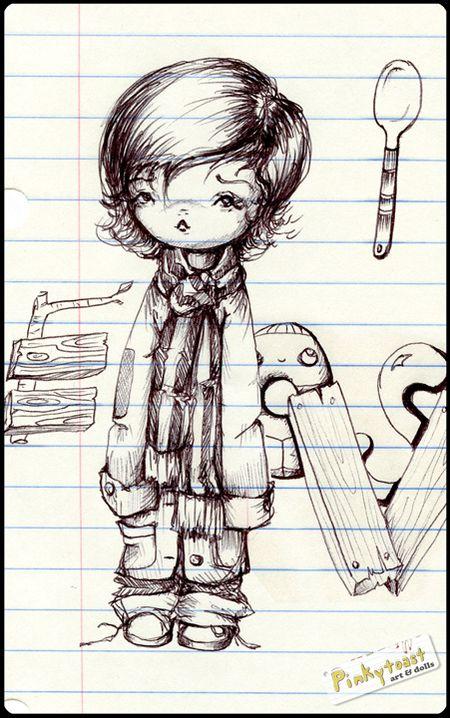 Hobo baby drawing pinkytoast