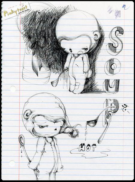 Monster baby pinkytoast sketch