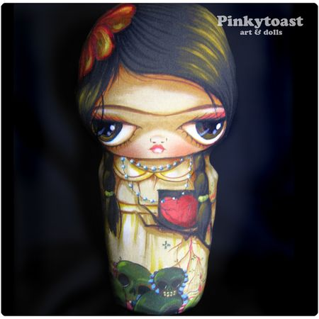 Frida day of the dead doll pinkytoast mummy 1