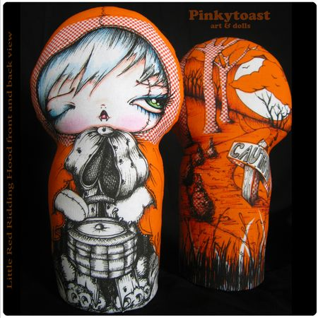 Little red ridding hood in caution orange doll pinkytoast 11
