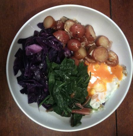 Purple cabbage breakfast pinkytoast