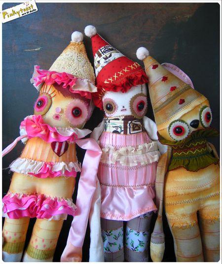 Clown koala bear pinkytoast art doll 7