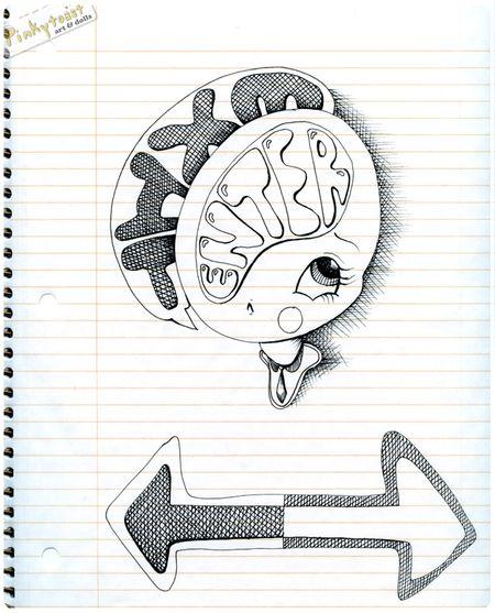 Exit enter pinkytoast sketchbook drawing