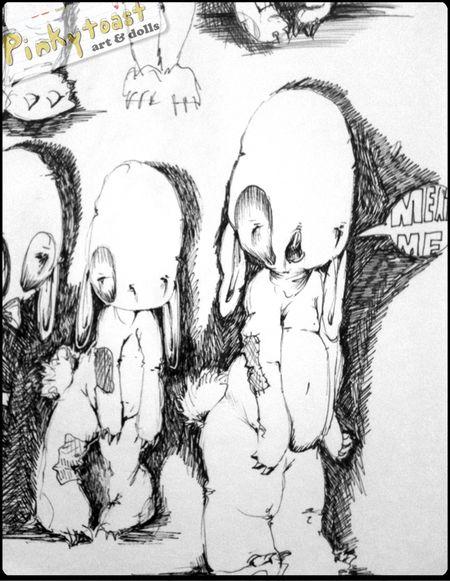 Meat me floppy bunny pinkytoast sketch