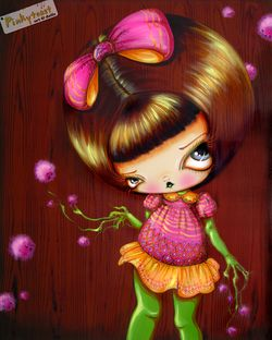 Little nutmeg rootdoll painting pinkytoast etsy
