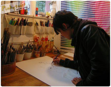 2 snow white drawing studio pinkytoast