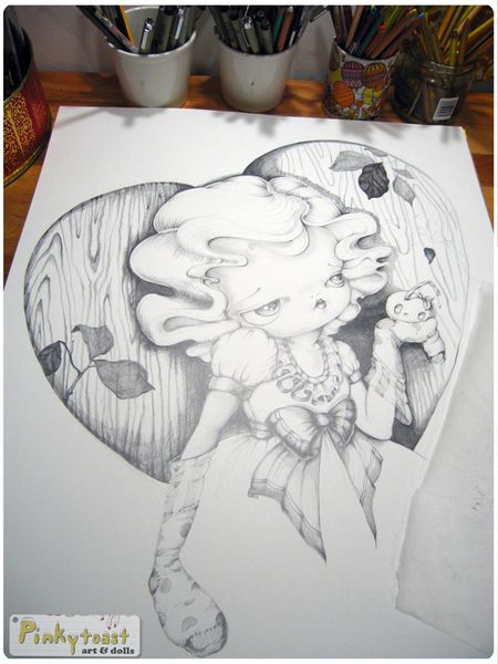 6 snow white drawing studio pinkytoast