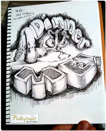 Dinner me pinkytoast sketch
