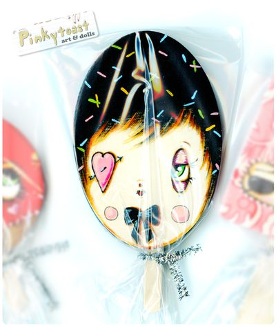 Licorice vintage lollipop doll pinkytoast 1