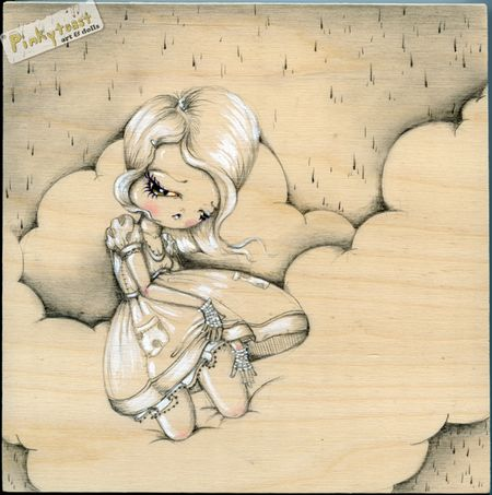 Walk in the clouds pinkytoast drawing