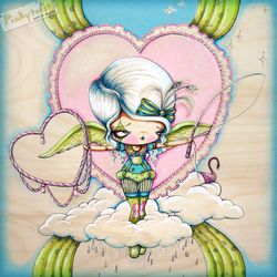 Circus angel hangs a heart in the sky pinkytoast etsy