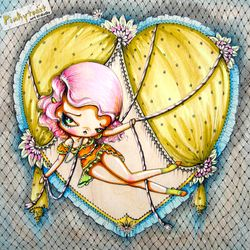 Fishnet circus girl pinup pinkytoast etsy