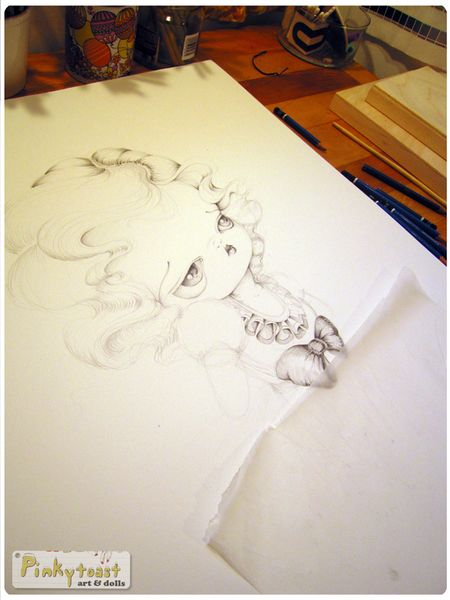 4 snow white drawing studio pinkytoast