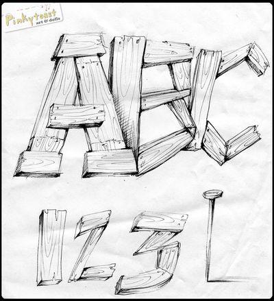 Abc 123 pinkytoast sketchbook 2010