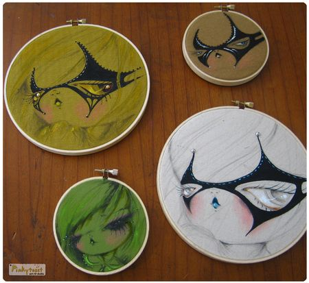 1 red mask girl painting hoop 10 pinkytoast