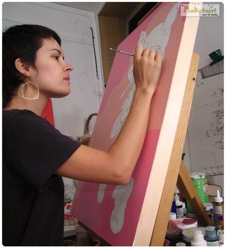 Spoonfull pinkytoast oil painting blog 2