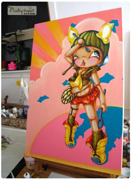 Spoonfull pinkytoast oil painting blog