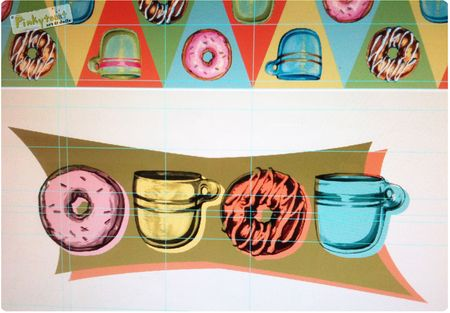 2 coffe and donuts studio pinkytoast painting