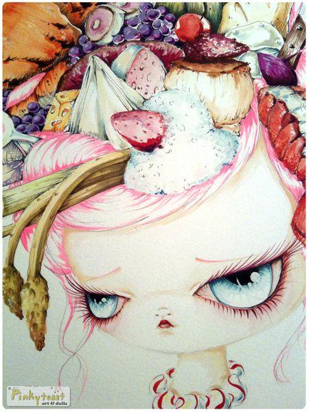 1 french twist food girl portrait pinkytoast