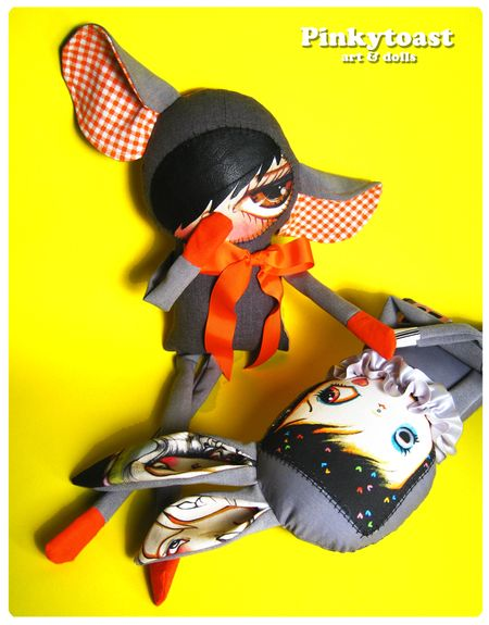 Orange 1 whispers circus doll art pinkytoast