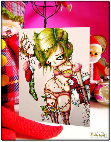 Rein deer underwear christmas card pinkytoast 2010