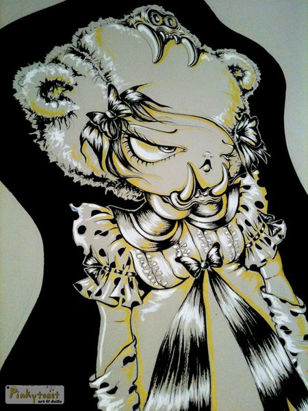 2 goldielocks and the three bears pinkytoast ink painting