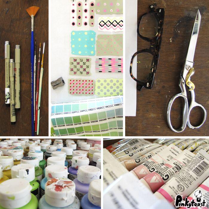 Pinkytoast pattern making art desk blog