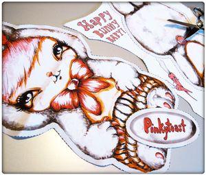 Pinkytoast diy easter bunny pattern cut doll 2012