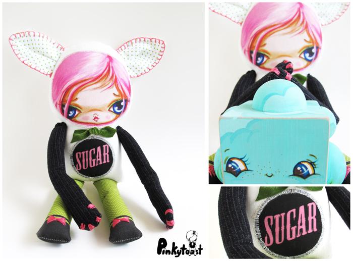 Sugar kitty cute pinkytoast cat girl big eye art doll typepad