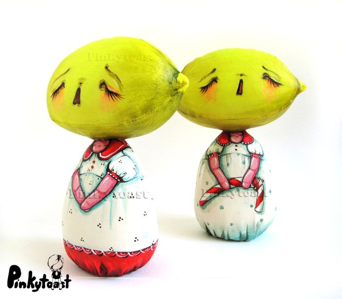 Lemon lament art doll pinkytoast etsy