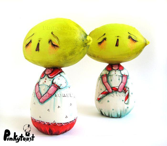 Lemon lament art doll pinkytoast etsy