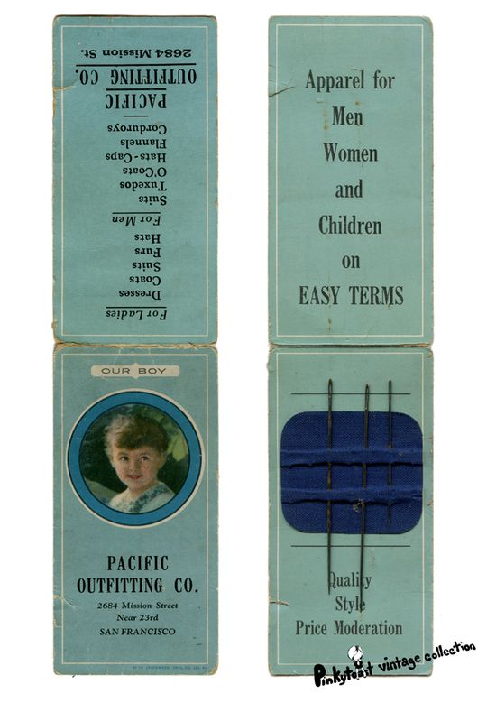 Pacific outffiting co mission san francisco vintage sewing needle case 3