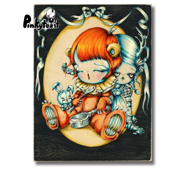 Winter ghosts feed the dreaming bear pinkytoast art