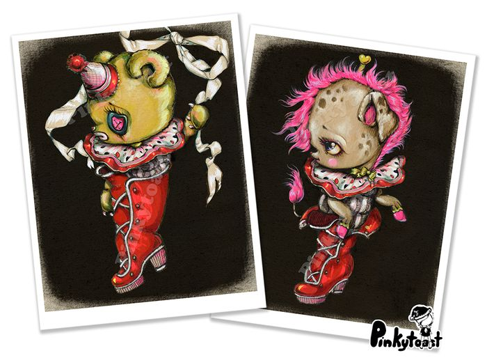 Bear clown puppy santa boot christmas stocking pinkytoast kawaii noir set etsy